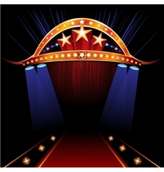 Famous Red Carpet vector image