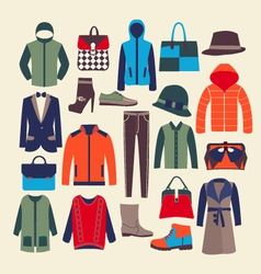 fashion clothes and accessorie vector image