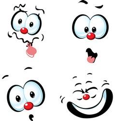 funny cartoon face - grin vector image