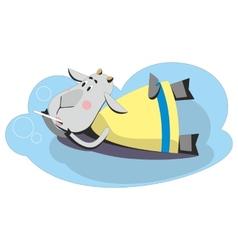 Goat making soap bubbles 02 vector image