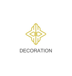 gold decoration logo vector image