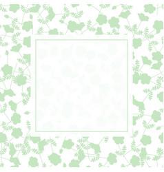 green flower banner on white background vector image
