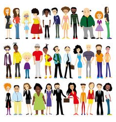 group diverse people vector image