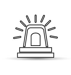 hand drawing alarm alert icon vector image
