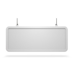 hanging long white signboard in a frame vector image