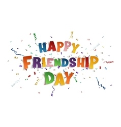 Happy Friendship Day background template vector