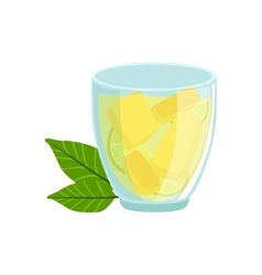 Homemade Lemonade In Glass Traditional Mexican vector