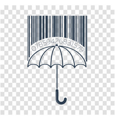 icon barcode about shopping vector image