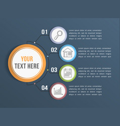 infographic template with four options vector image