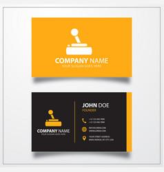 Joystick icon business card template vector