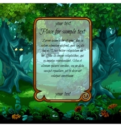 Landscape with nature and frame for sample text vector