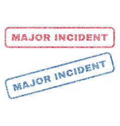Major incident textile stamps vector