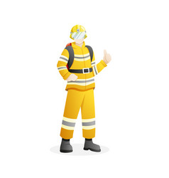 man who work as firefighter vector image