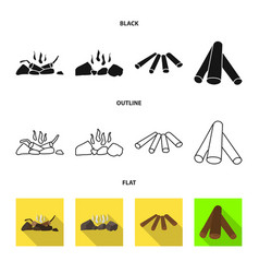 Material and logging icon vector
