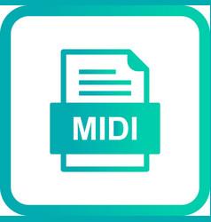 Midi file document icon vector