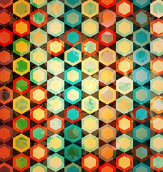 multicolor cells seamless vector image