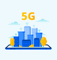 Network 5g coverage city wireless internet fifth vector