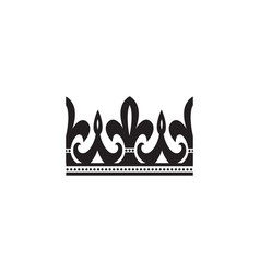 ornate black crown icon with curvy arched lines vector image