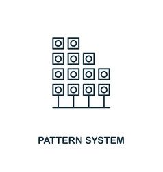 pattern system outline icon thin line style from vector image