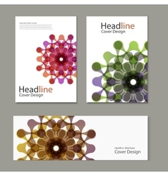 Pattern with brochure snd banner abstract vector