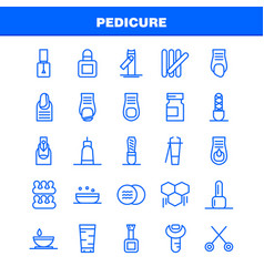 Pedicure line icon pack for designers and vector