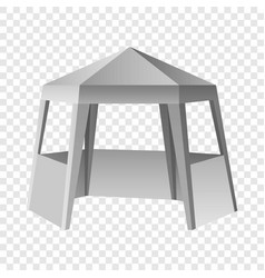 presentation tent mockup realistic style vector image