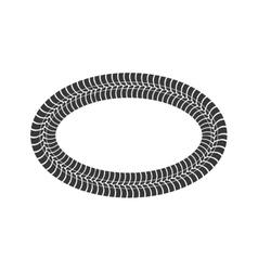 Print wheel tire shape black icon graphic vector