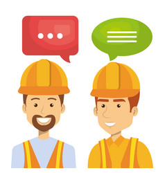 professional construction people characters vector image
