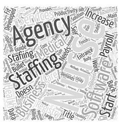 Professional Nursing Agency Software for Nurse vector