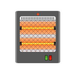 Quartz heater icon flat style vector