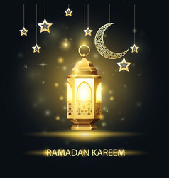 ramadan kareem greeting card - traditional vector image