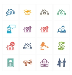 Real Estate Icons - Colored Series vector image