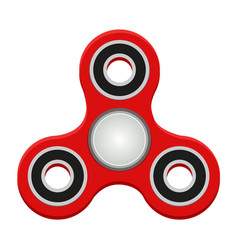 Red spinner anti-stress toy helps to relax and vector