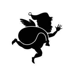 santa Cupid vector image