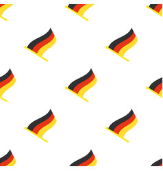 Seamless pattern with flags germany vector