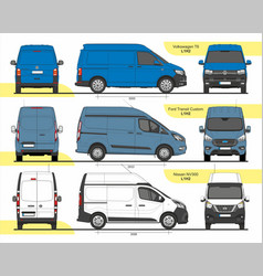 Set cargo vans l1h2 2015 vector