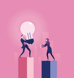 Share idea - business concept ideas sharing vector
