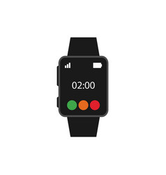 smartwatch object graphic design template vector image