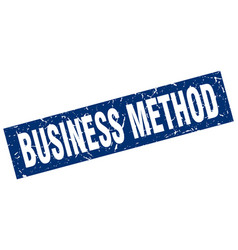Square grunge blue business method stamp vector