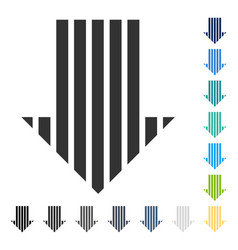Stripe arrow down icon vector