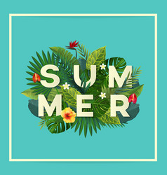 summer flyer vector image