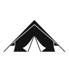 Survival tent icon simple style vector