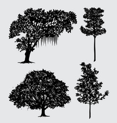 Tree nature silhouette vector