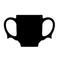 Two-handled cup vector