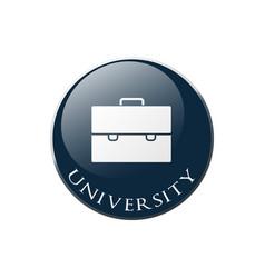 University portfolio vector