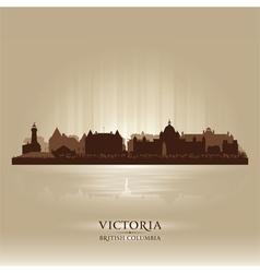 Victoria British Columbia skyline city silhouette vector