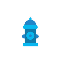 Water fire hydrant flat style icon vector