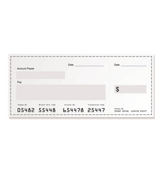 White dollar cheque vector