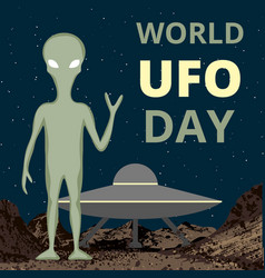 world ufo day vector image