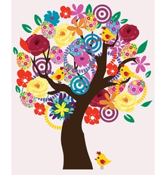 Easter Beautiful Tree vector image